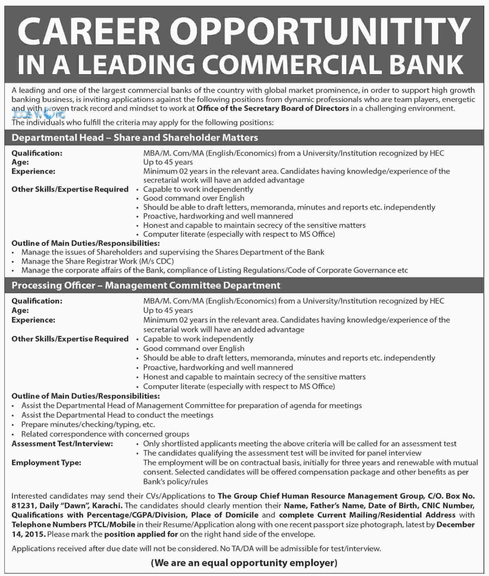 commercial bank jobs in for 2016 latest advertisement commercial bank jobs in for 2016 latest advertisement jobsworld