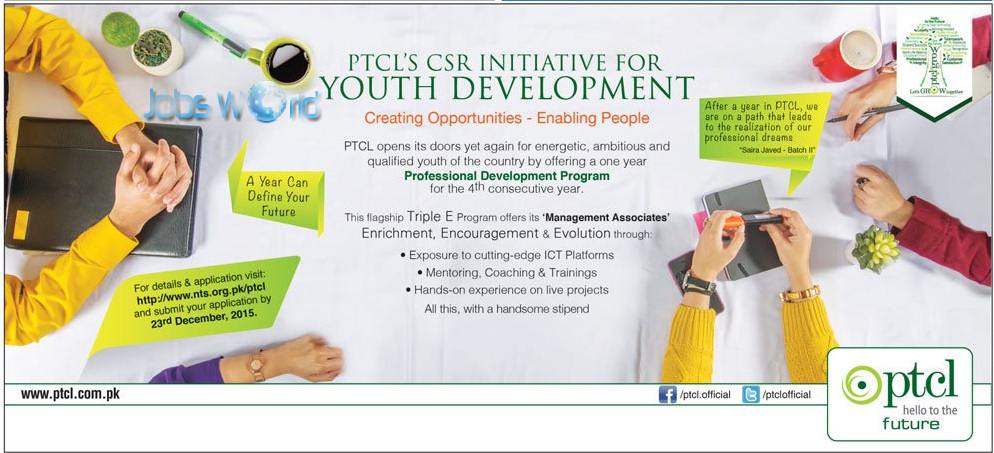 PTCL Paid Internship Program 2016 Online Registration