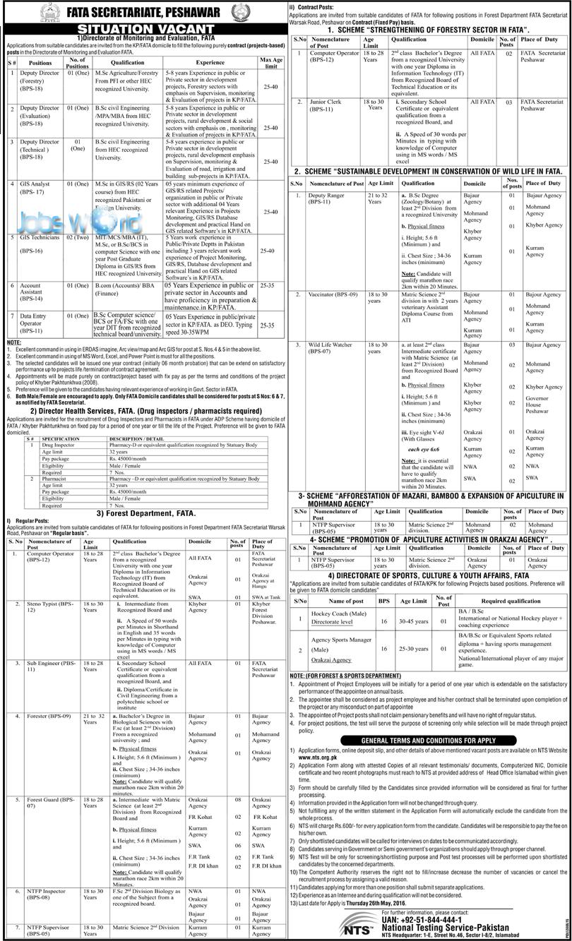 fata secretariat peshawar jobs 2016 syllabus eligibility nts fata secretariat peshawar jobs 2016 syllabus eligibility nts application form jobsworld