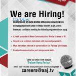 Aaj News TV Channel Jobs 2016