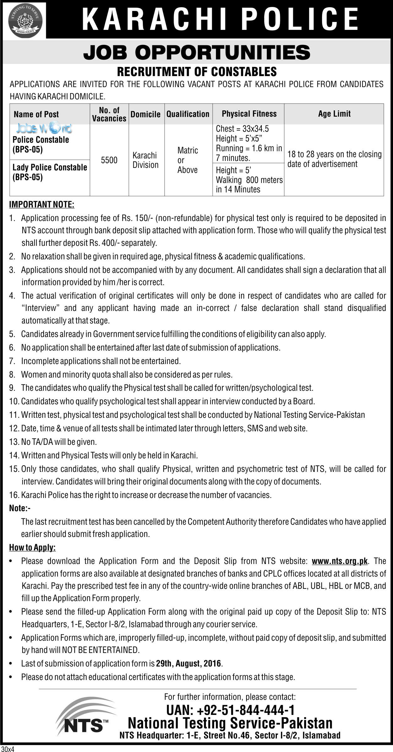 Karachi-Police-Jobs-2016-by-NTS-Constable Job Application Form For Government Of Sindh on government job openings, finance application form, medical application form, government articles, government job application process, government order form, doctor application form, government job vacancies, government events, government job application cover letter, security application form, government training, government newsletter, business application form, government benefits, teaching application form, driver application form, health care application form, government employment, bank application form,